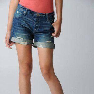 Hudson | Leah Distressed Denim Boyfriend Shorts